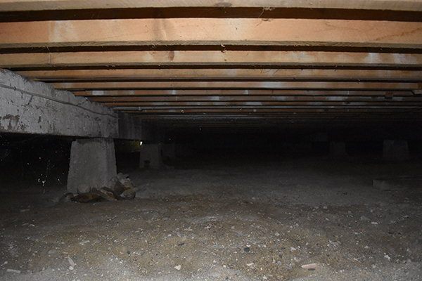 Unprotected Crawlspace